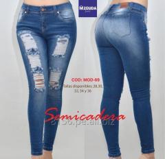 Jeans semicadera