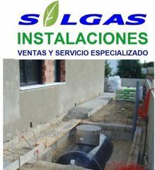 Storage tanks for gas