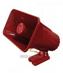 SIRENA PARA ALARMAS OPALUX MODELO OP59SRD color ROJA alimentación: 12 24 VDC
