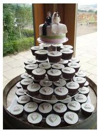 Pedido Servicios para Cumpleaños Torta de bodas con cupcakes