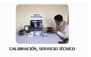 Pedido Calibración, Servicio Tecnico