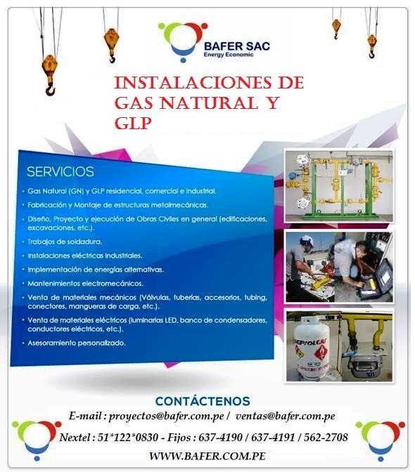 Pedido INSTALACIONES DE GAS NATURAL Y GLP