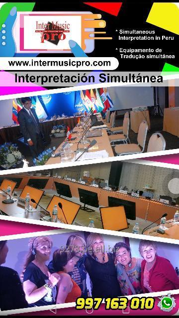 Pedido Interpretación Traducción simultánea en Todo Perú