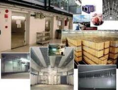 Services of storing of food products