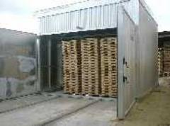 Secado  de madera en horno