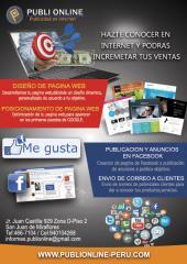 Publi Online:Diseño Web-Posicionamiento Web-Publicidad en Facebook para PYMES