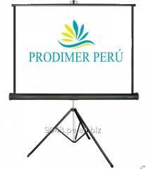 Venta de pantallas de proyeccion ecran &  racks x mayor y menor